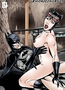 Catwoman sucks Batman`s hot pole